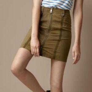 $350 Burberry Runway Edition cotton khaki skirt*12